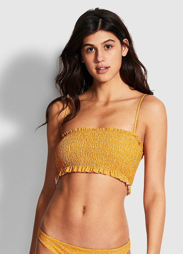 EL DORADO SHIRRED TUBE BIKINI TOP