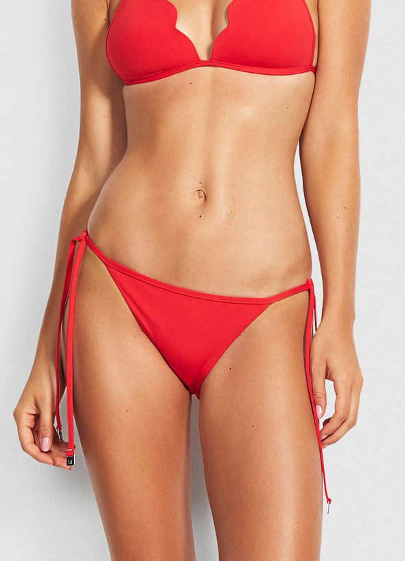 PETAL EDGE BRAZILIAN TIE SIDE BIKINI PANTS