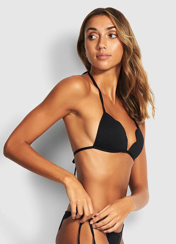 PETAL EDGE FIXED TRI BIKINI TOP
