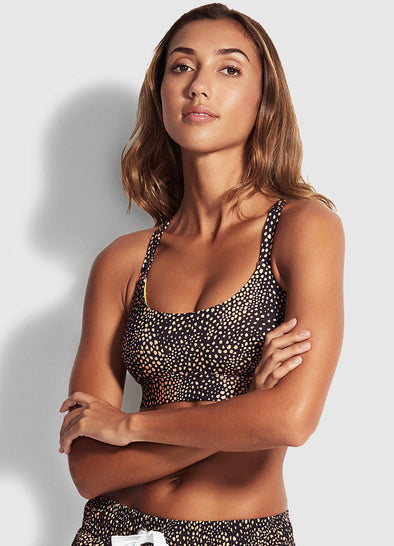 SAFARI SPOT ACTIVE CROP TOP