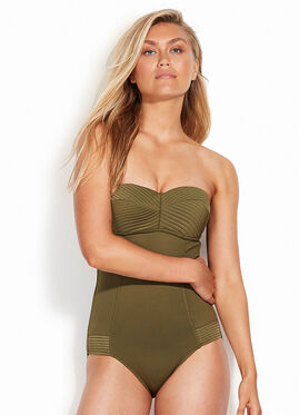 SEAFOLLY QUILTED BANDEAU ONE PIECE