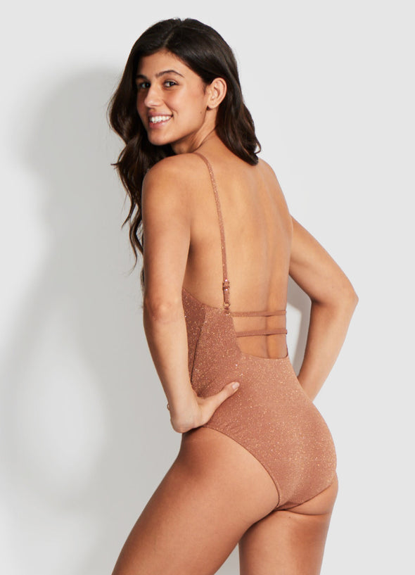 STARDUST SQUARE NECK ONE PIECE