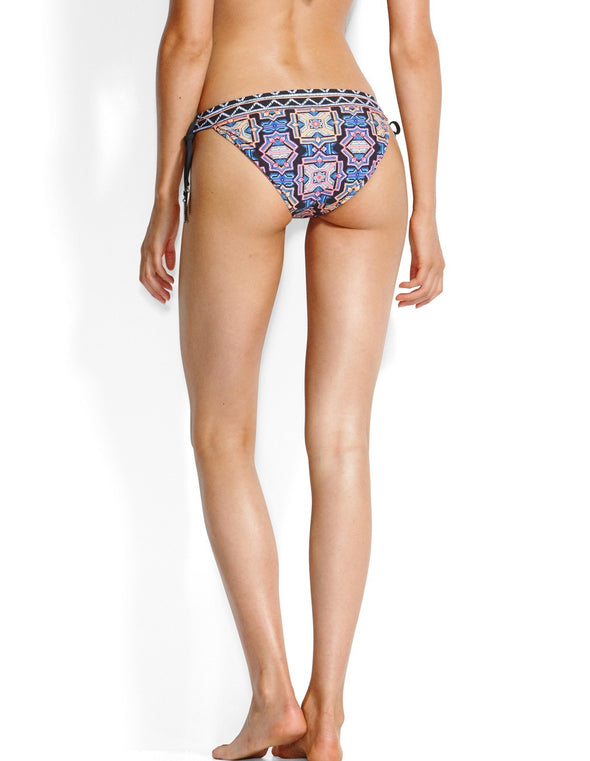 SUN TEMPLE BANDED TIE SIDE HIPSTER BIKINI PANTS