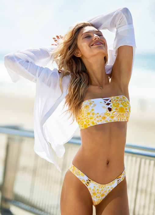SUNFLOWER HIGH CUT BIKINI PANTS