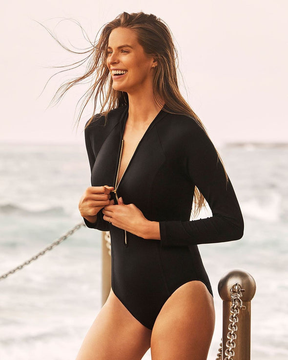 SEAFOLLY ZIP FRONT SURFSUIT ONE PIECE
