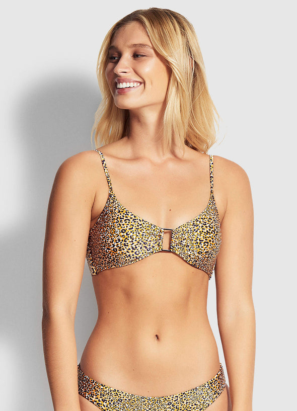 SPIRIT ANIMAL RING FRONT BRALETTE BIKINI TOP
