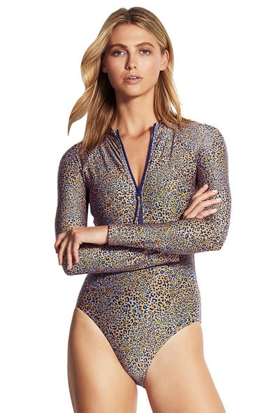 SPIRIT ANIMAL ZIP FRONT SURF SUIT