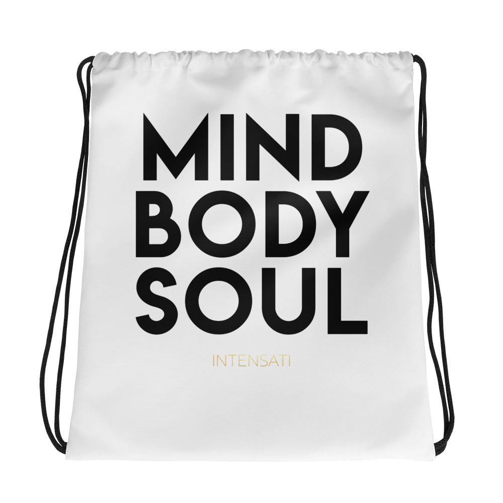Mind Body Soul Drawstring Backpack