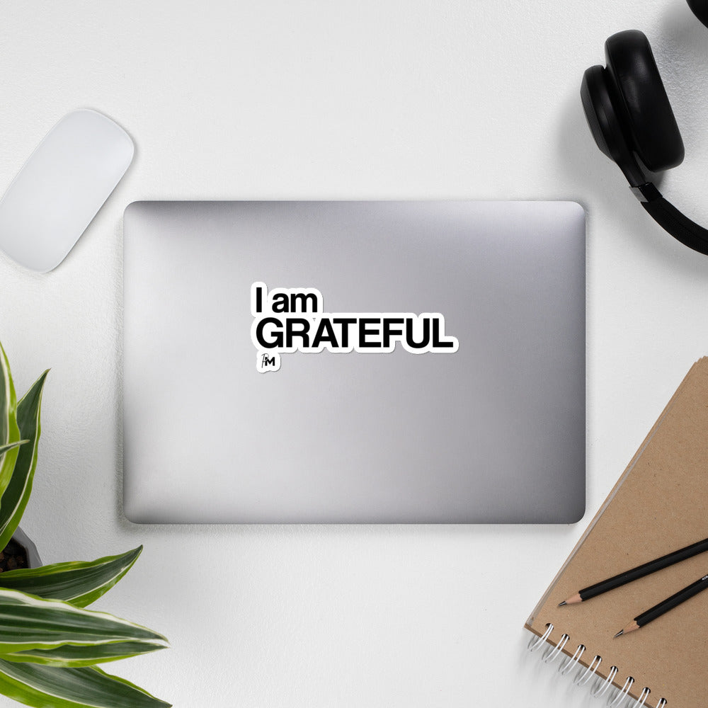 I Am Grateful Sticker