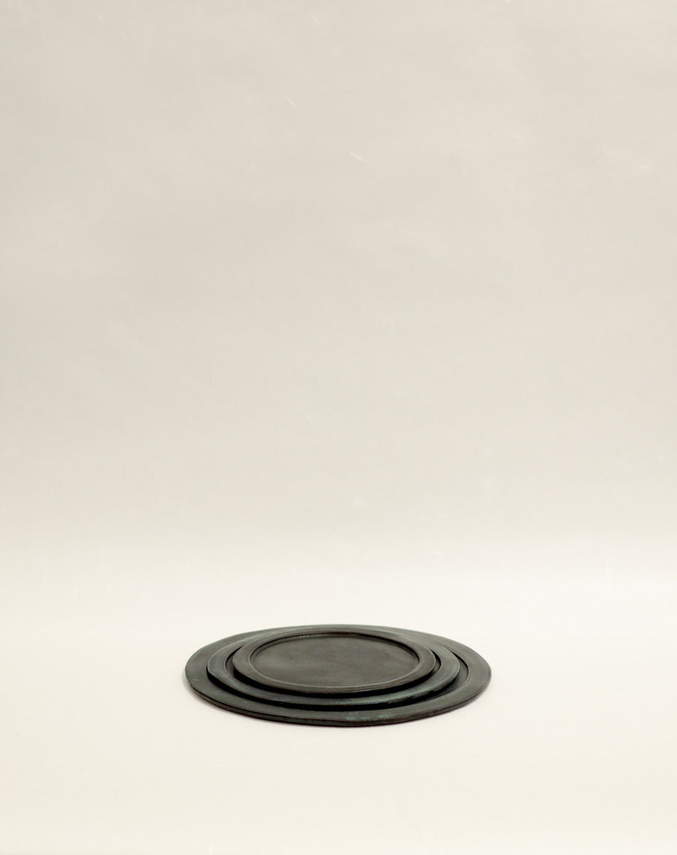 Black Large Slate Serving Plate