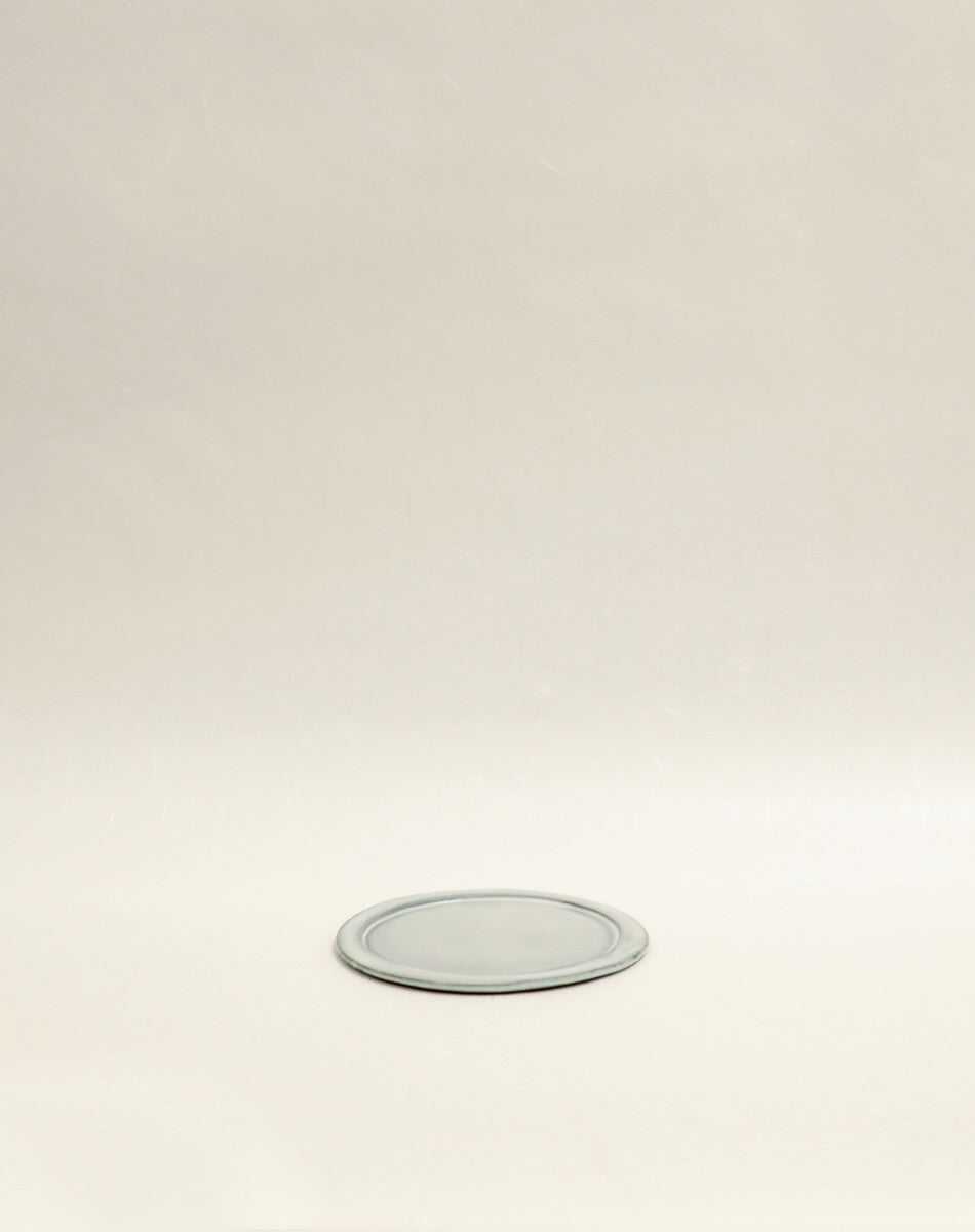 White Small Slate Round Plate