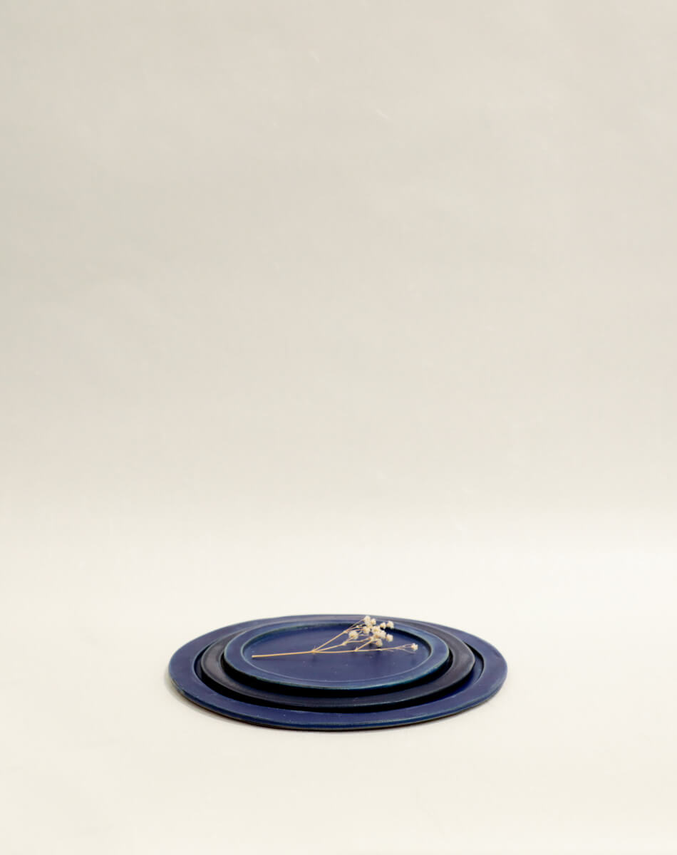 Blue Large Slate Serving Plate