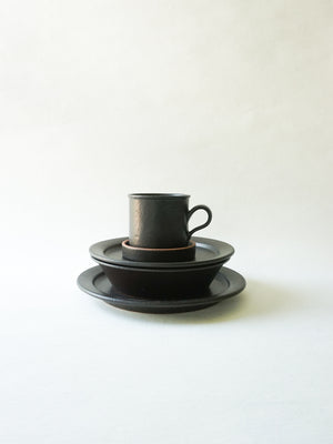 Black Stackable Lunch Plate (M)