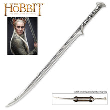 Load image into Gallery viewer, The Hobbit Officially Licensed Sword Of Thranduil The Elvenking With Wall Plaque