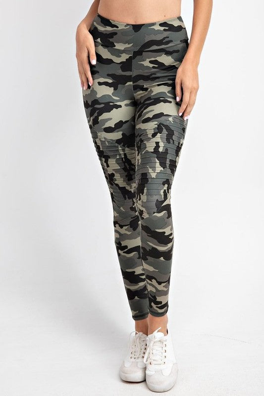 Camo Printed Moto Leggings | URBAN ECHO SHOP
