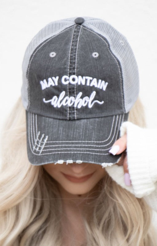 'May Contain Alcohol' Personality Hat | URBAN ECHO SHOP