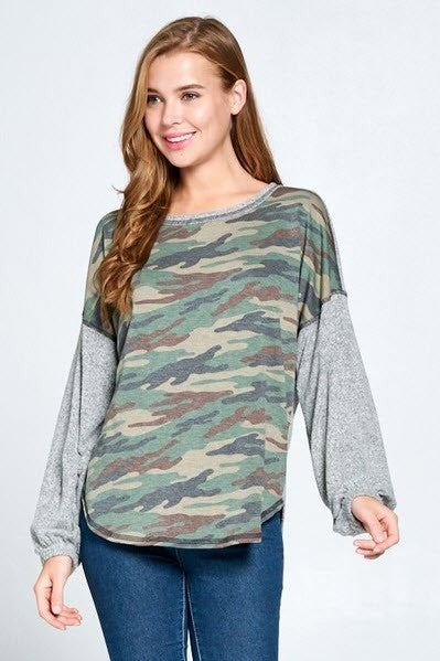 Canyon Lucille Camo Top | URBAN ECHO SHOP