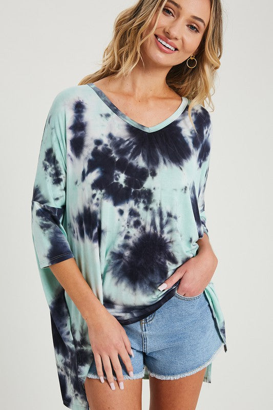 Brandy Faire Tie-Dye Tunic Top | URBAN ECHO SHOP