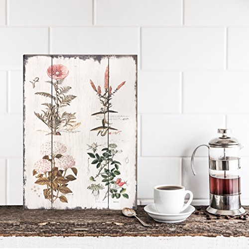 Vintage Botanical Wood Plaque | URBAN ECHO SHOP
