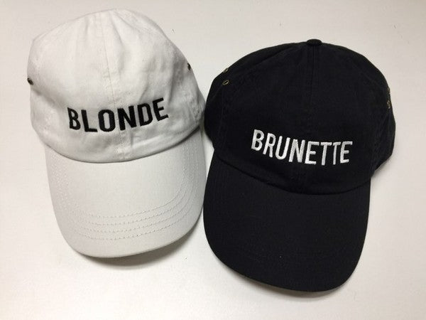'Blonde or Brunette' Personality Hat | URBAN ECHO SHOP