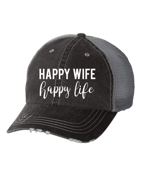 'Happy Wife, Happy Life' Personality Hat | URBAN ECHO SHOP