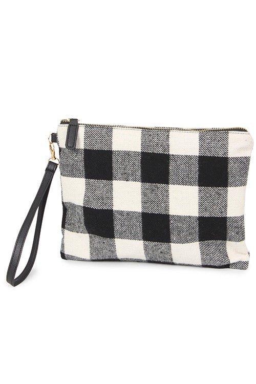 Buffalo Plaid Wristlet | URBAN ECHO SHOP