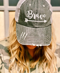 'Brave' Personality Hat | URBAN ECHO SHOP