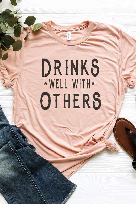 'Drinks Well With Others' Personality Tee | URBAN ECHO SHOP