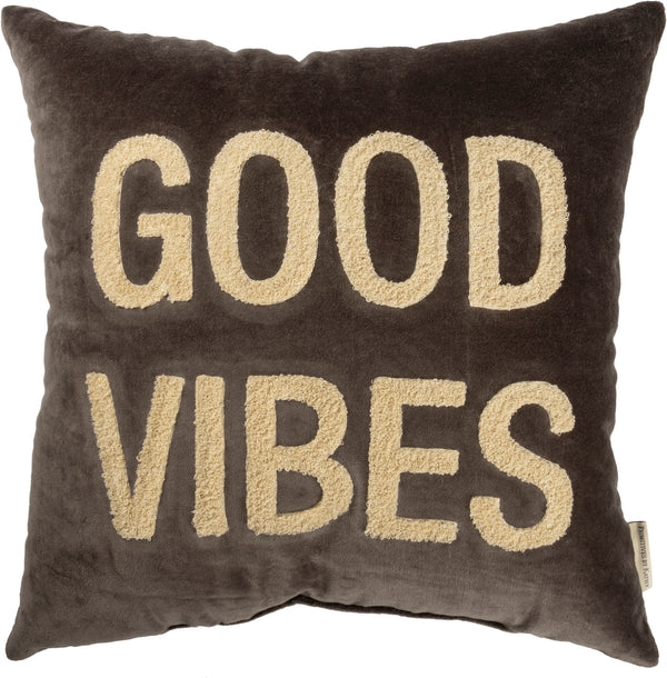 Good Vibes Velvet Pillow | URBAN ECHO SHOP