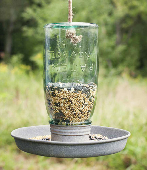 Hanging Mason Jar Bird Feeder | URBAN ECHO SHOP