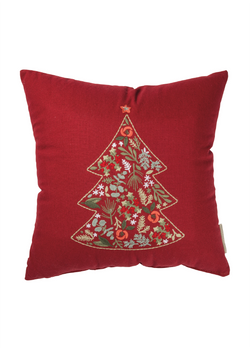 Botanical Tree Holiday Themed Throw Pillow | URBAN ECHO SHOP
