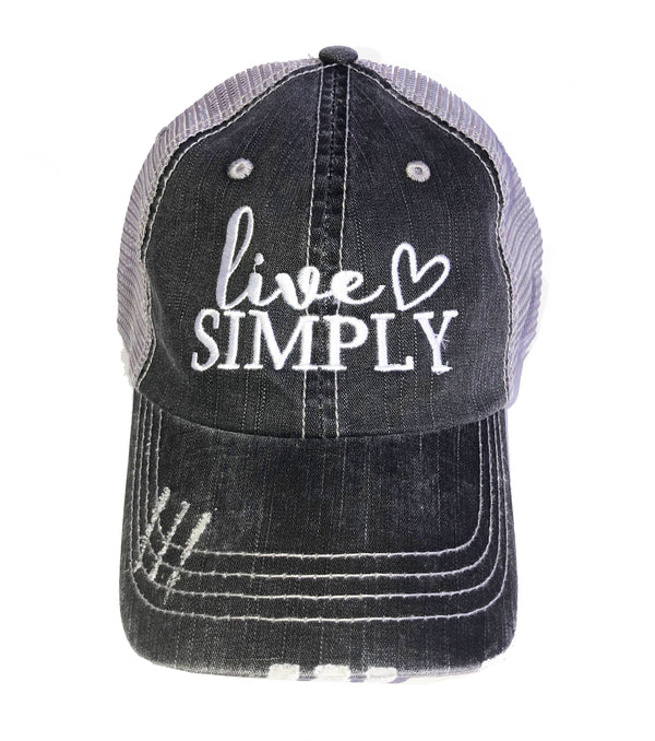 'Live Simply' Personality Hat | URBAN ECHO SHOP