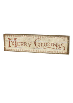 Merry Christmas Red Slat Wood Box Sign | URBAN ECHO SHOP