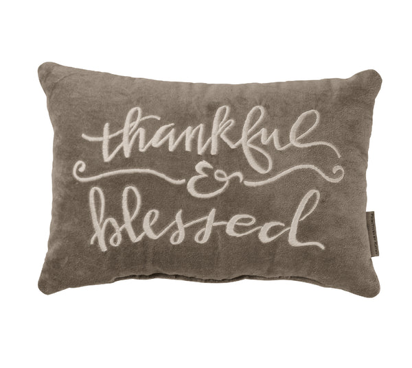Thankful & Blessed Throw Pillow | URBAN ECHO SHOP