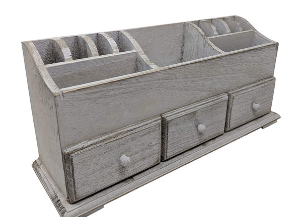 Rustic Farmhouse 3-Drawer Wooden Organizer | URBAN ECHO SHOP