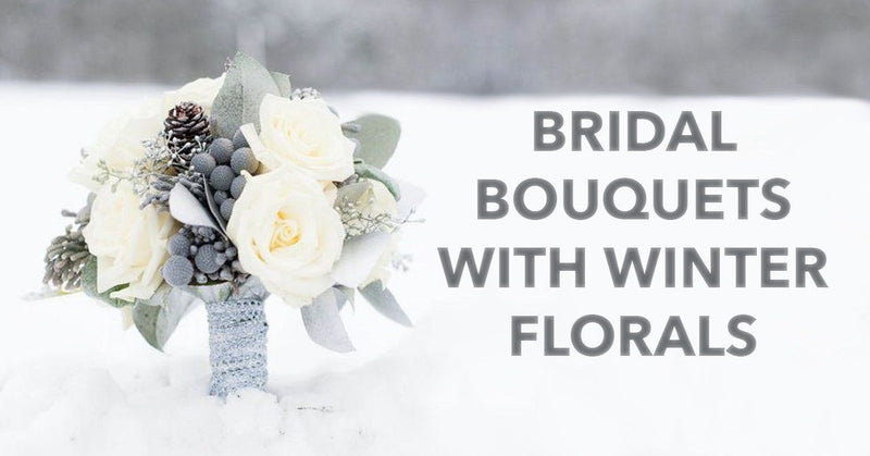 Bridal Bouquets With Winter Florals