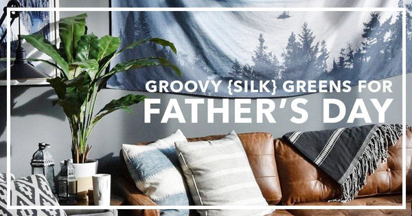 Groovy Silk Greens For Father's Day