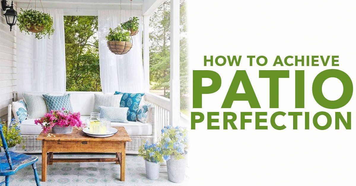 How To Achieve Patio Perfection With Artificial Greenery