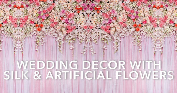 Wedding Decor With Silk & Artificial Flowers