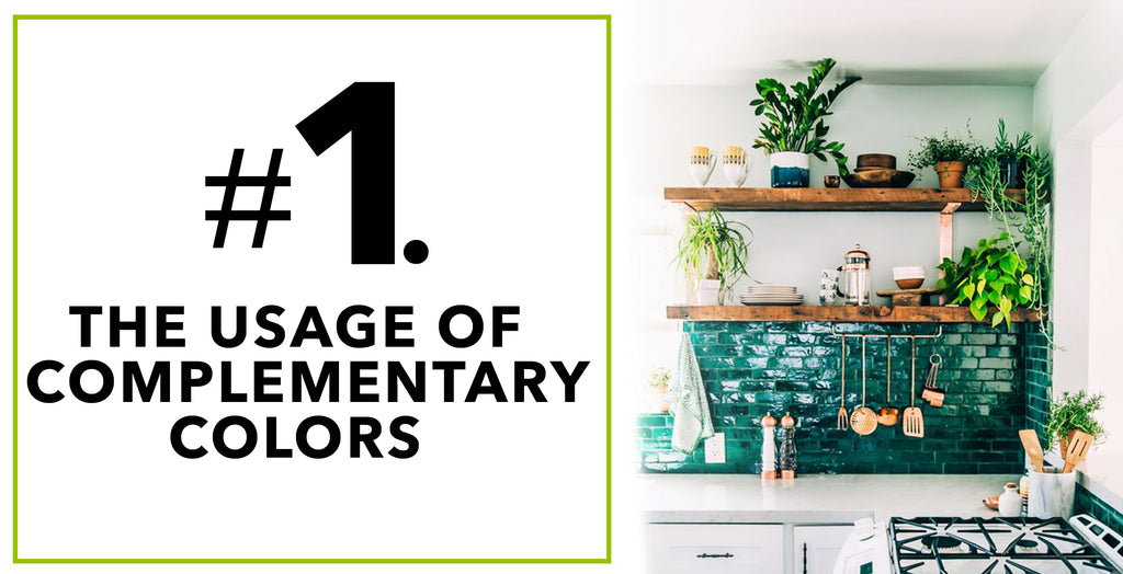 Tips On How To Spruce'n Up Kitchen Spaces With Artificial Plants: The Usage of Complementary Colors