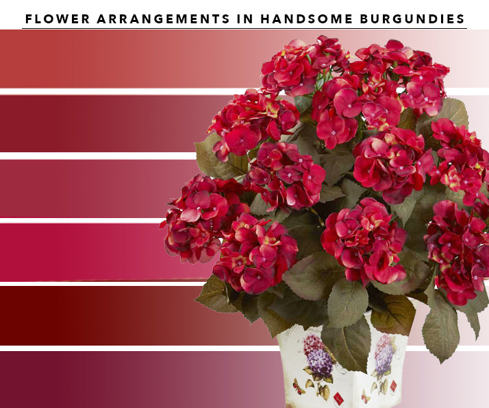 Burgundy Artificial Flower Arrangements