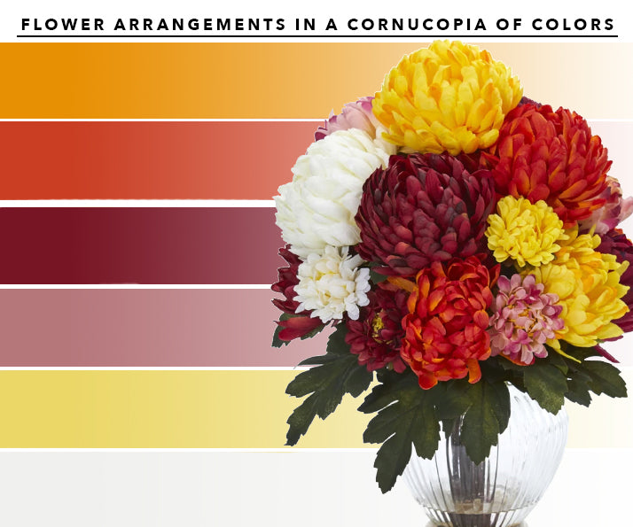 Cornucopia Artificial Flower Arrangements