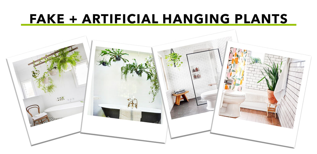 Fake And Artificial Hanging Plants Perfect For the Bathroom