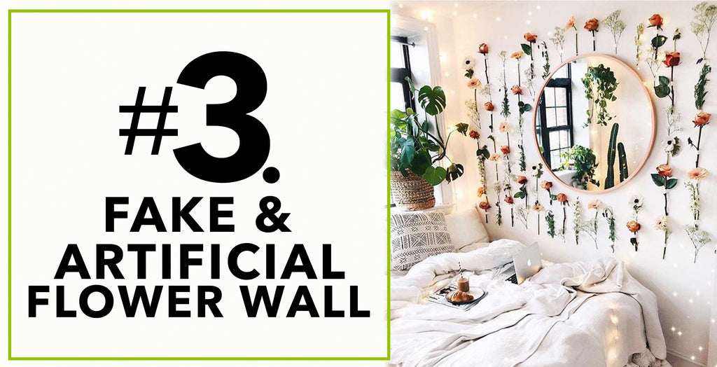 Fake Artificial Flower Wall