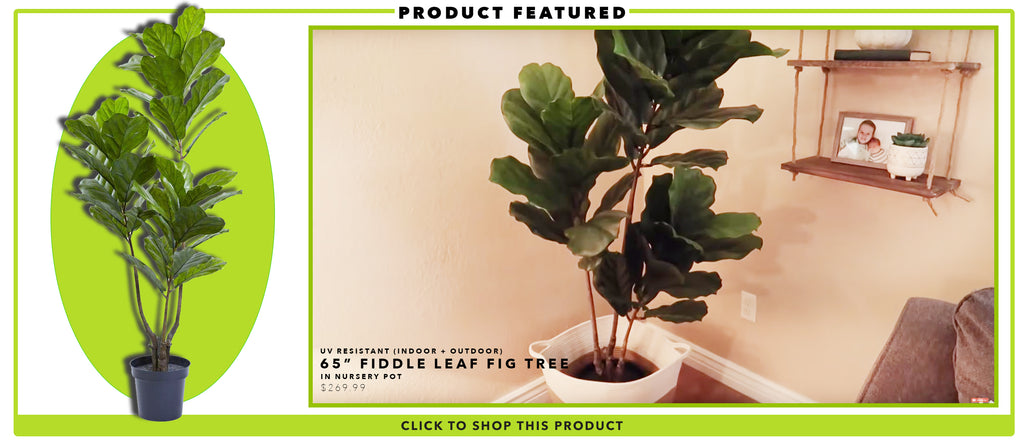 Fake Tiered Fiddle Leaf Fig Tree