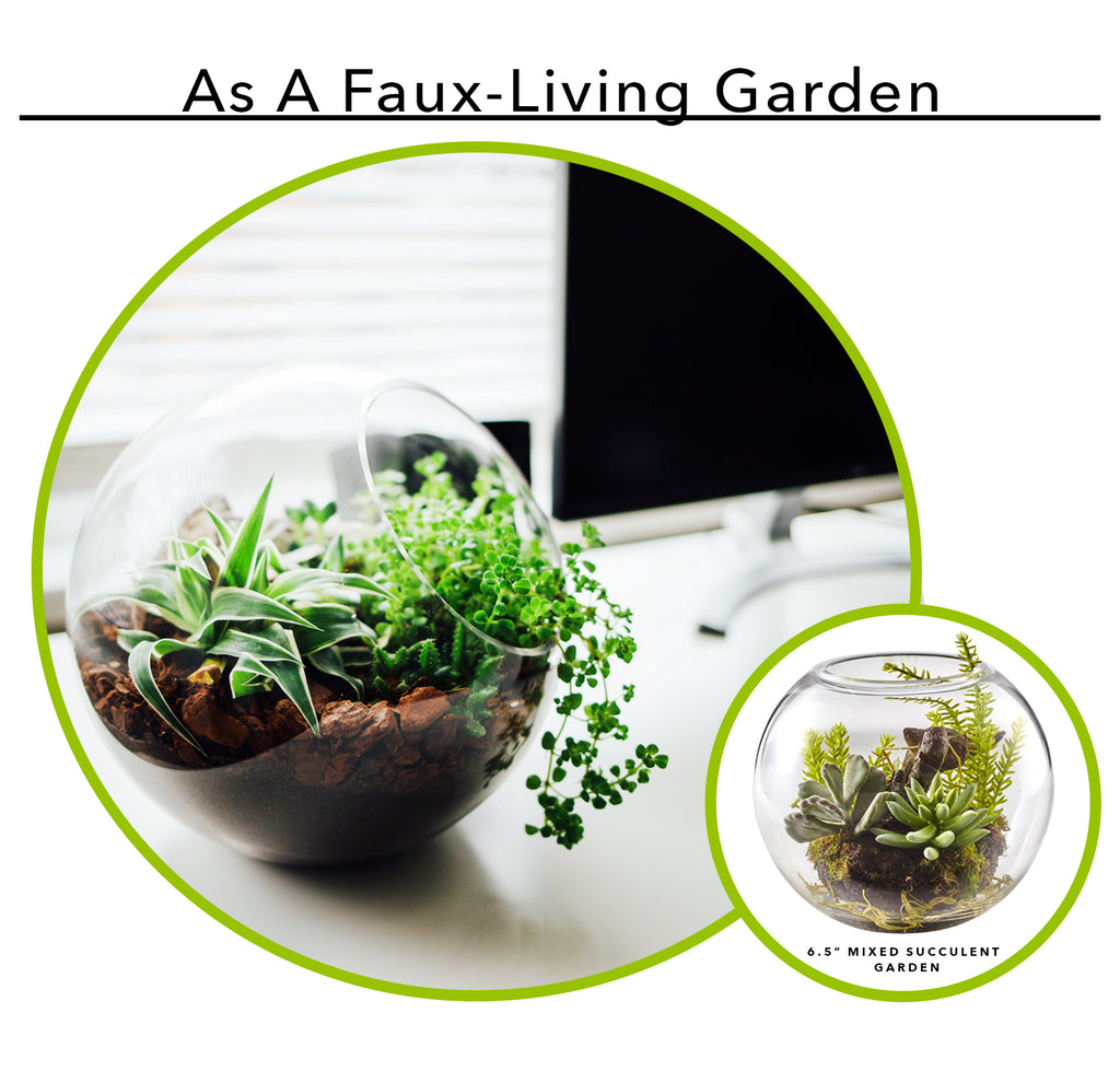 Using Artificial Succulents As A Faux-Living Garden