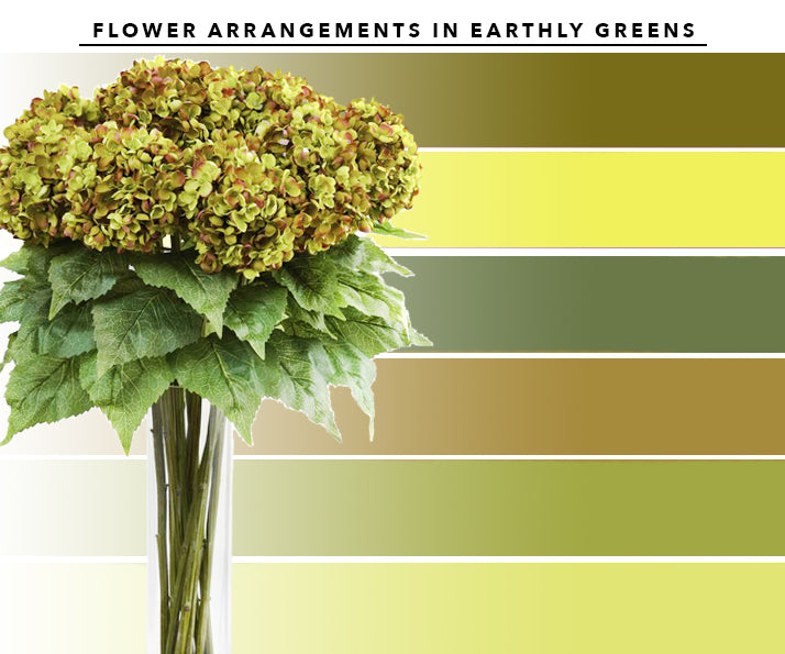 Greens Artificial Flower Arrangements