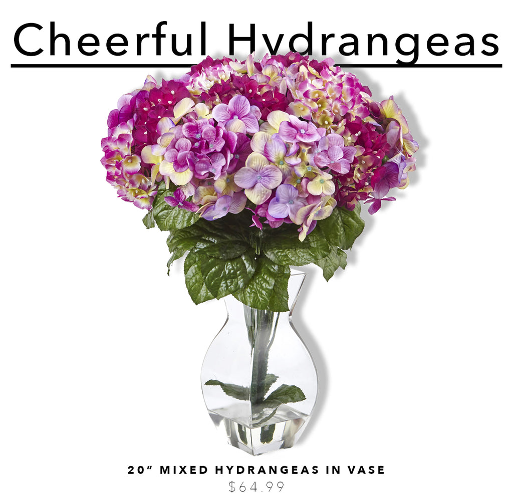 Fake & Artificial Silk Hydrangea Arrangements