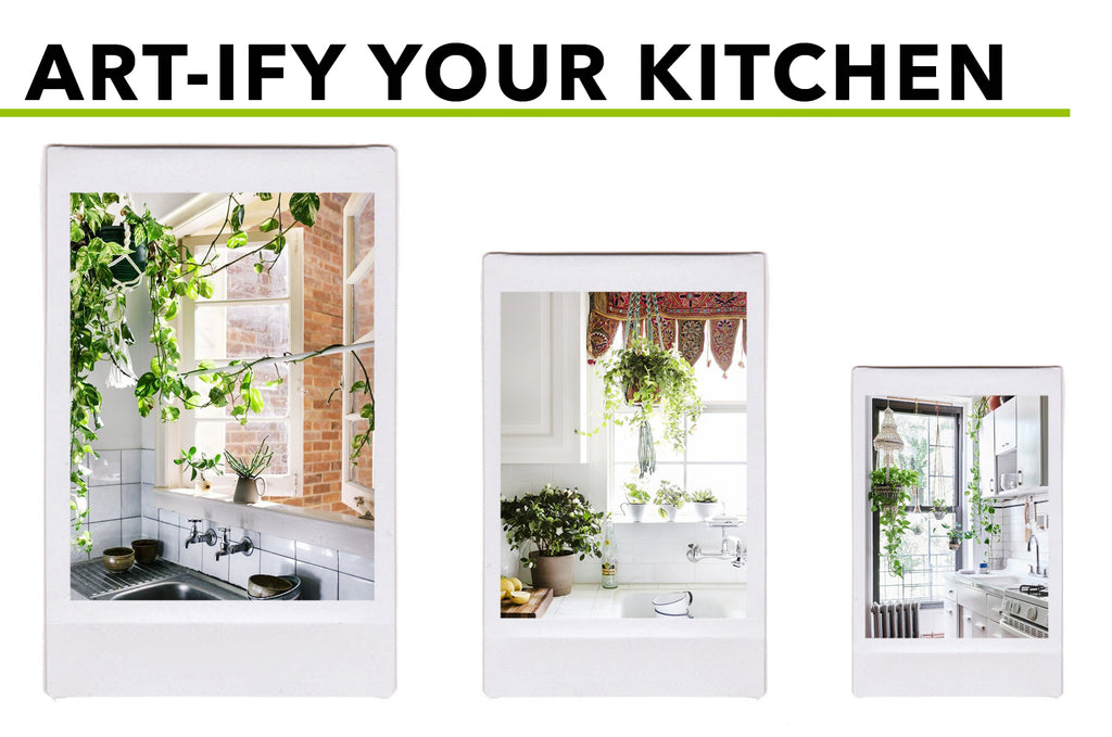 Picturesque Places For Hanging (Silk) Plants: Art-ify Kitchen Spaces