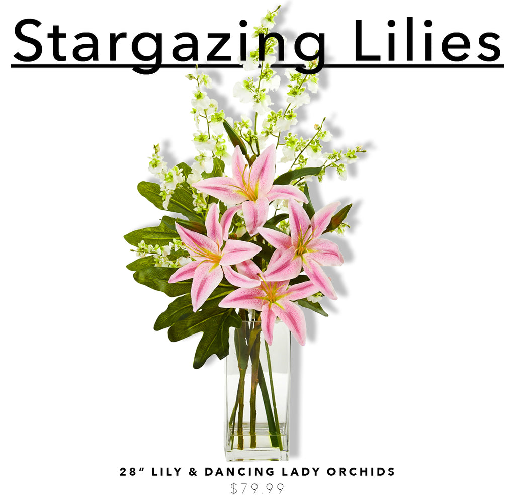 Fake & Artificial Silk Lily Arrangements